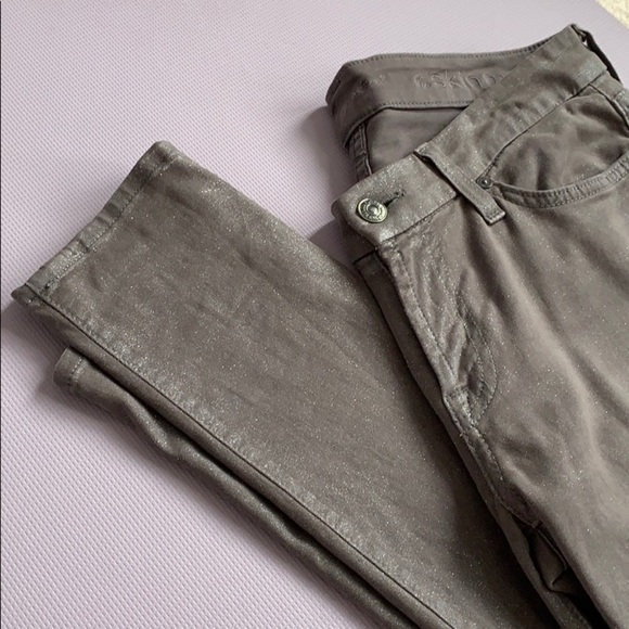 7 For All Man Kind   The Skinny Grey Glitter Jeans